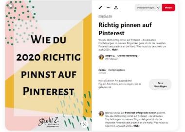 Pinterest Pin Beispiel