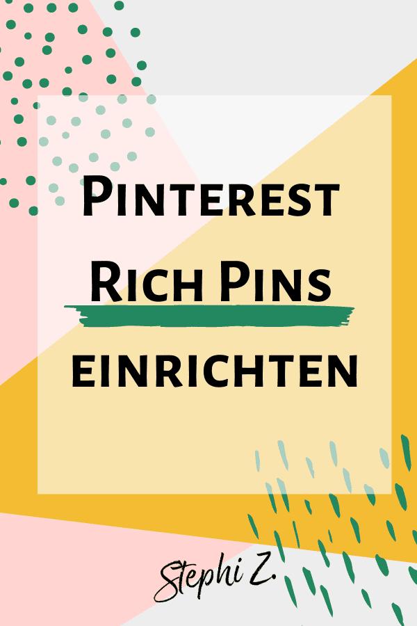 Pin Pinterest Rich Pins