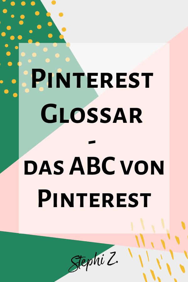 Pin Pinterest Glossar