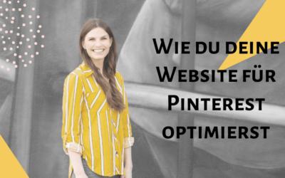 Wie du deine Website für Pinterest optimierst!